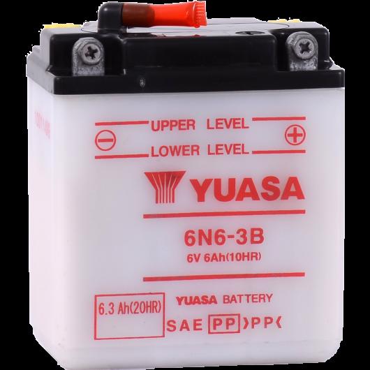 Baterie moto Yuasa 6V 6.3Ah (6N6-3B)